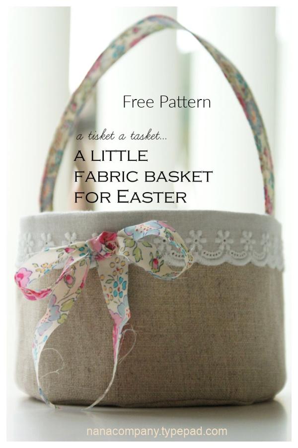 DIY Fabric Easter Basket Free Sewing Pattern