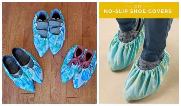 DIY Fabric Shoe Cover Free Sewing Patterns