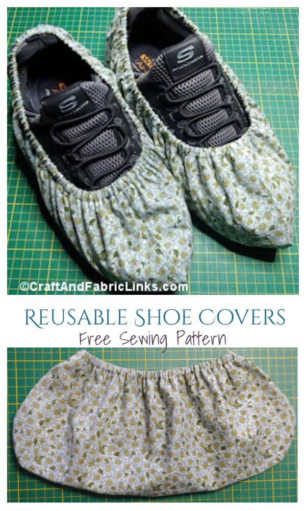 DIY Fabric Reusable Shoe Covers Free Sewing Patterns