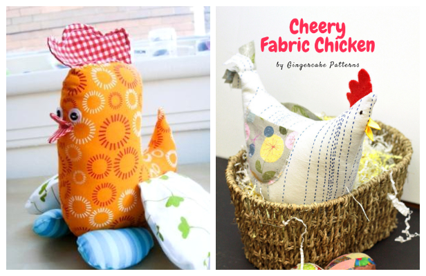 DIY Fabric Toy Spring Chicken Free Sewing Pattern
