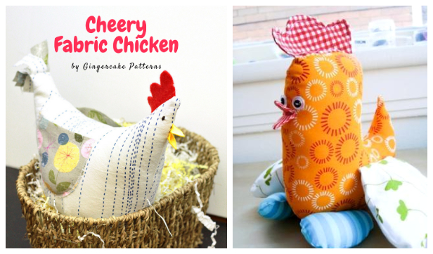 DIY Fabric Toy Chicken Free Sewing Pattern