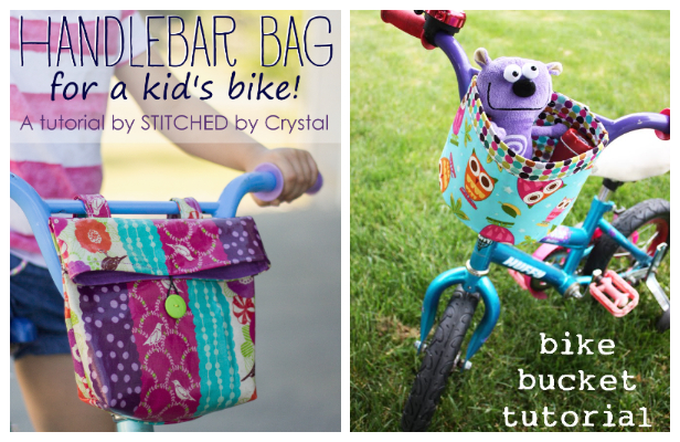 DIY Fabric Bike Handlebar Bag Free Sewing Patterns