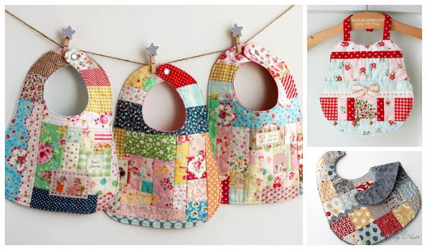 DIY Patchwork Baby Bib Free Sewing Patterns