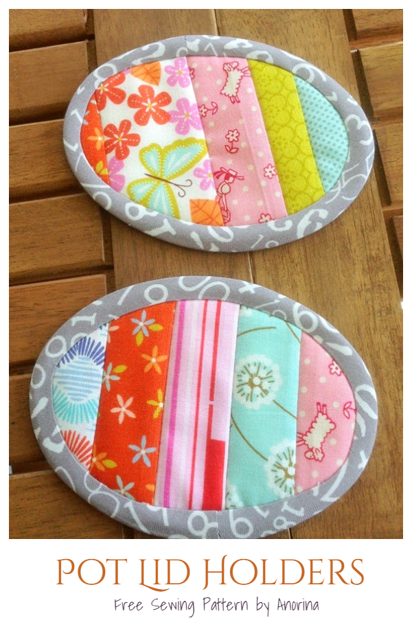 Patchwork Pot Lid Holders Free Sewing Pattern
