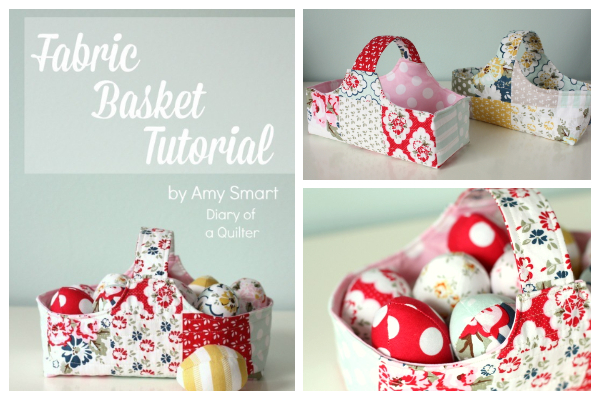DIY Fabric Easter Basket Free Sewing Pattern