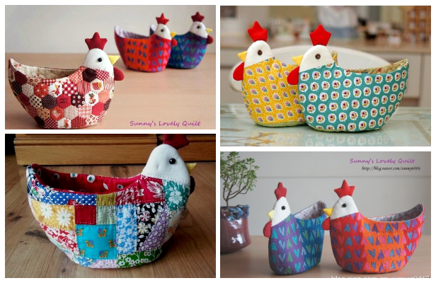 DIY Easter Chicken Egg Holder Free Sewing Patterns
