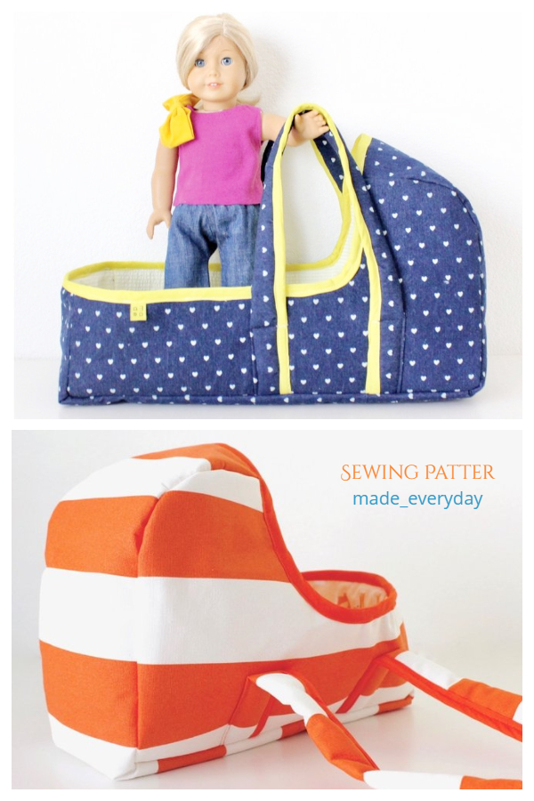 DIY Fabric Baby Doll Basket Sewing Patterns