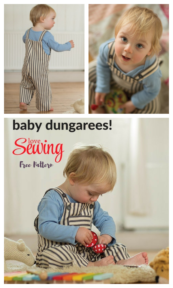 DIY Fabric Baby Dungaree Overall Free Sewing Patterns