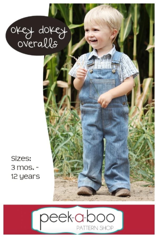 DIY Fabric Baby OKEY DOKEY Overalls Sewing Patterns