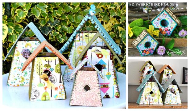 DIY Fabric Birdhouses Free Sewing Patterns & Tutorials