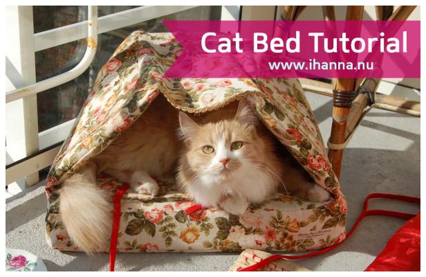 DIY Fabric Cat Basket Bed Free Sewing Pattern + Tutorial