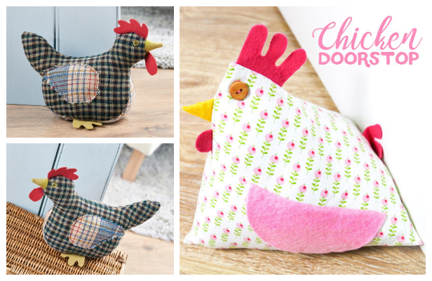 DIY Fabric Chicken Doorstop Free Sewing Patterns