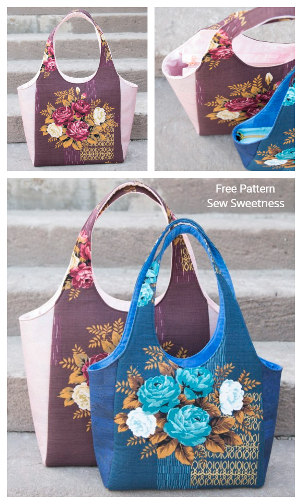 DIY Fabric Clydebank Tote Bag Free Sewing Pattern + Video