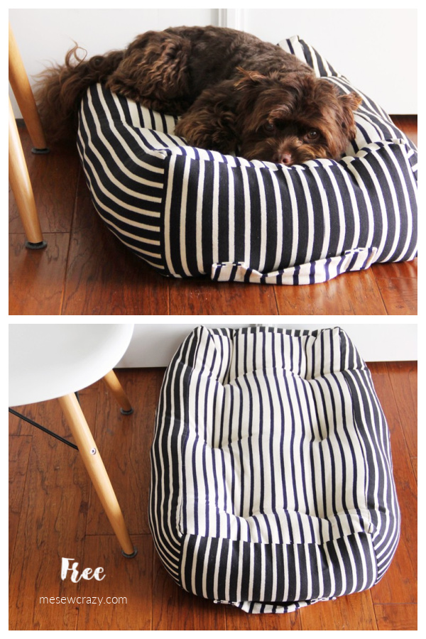 DIY Fabric Dog Bed Free Sewing Patterns + Tutorials