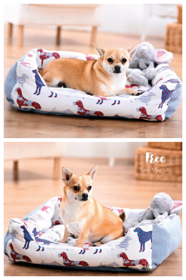 DIY Fabric Dog Bed & Coat Free Sewing Patterns + Tutorials