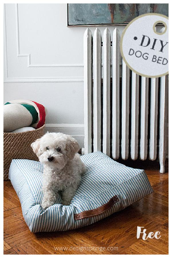 DIY Fabric Dog Bed Free Sewing Patterns