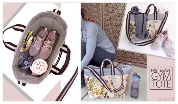 DIY Fabric Gym Tote Bag Free Sewing Pattern & Tutorial