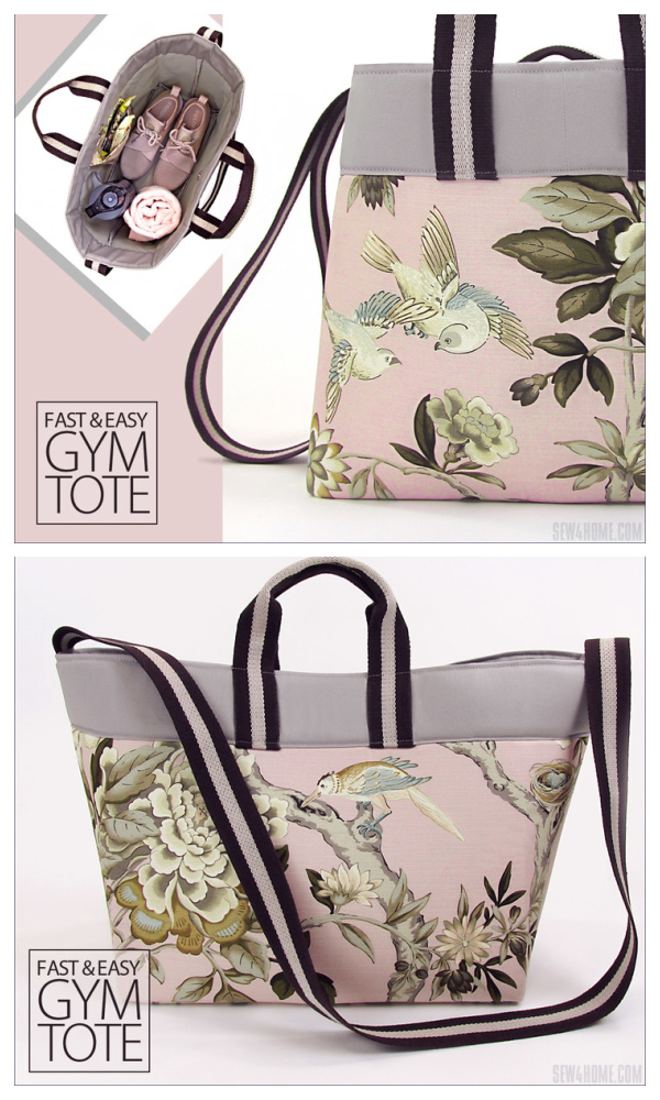 DIY Fabric Gym Tote Bag Free Sewing Pattern & Tutorial