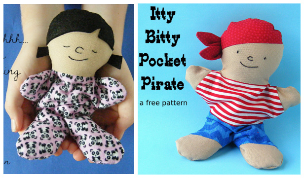 DIY Fabric Pocket Pirate Doll Free Sewing Pattern