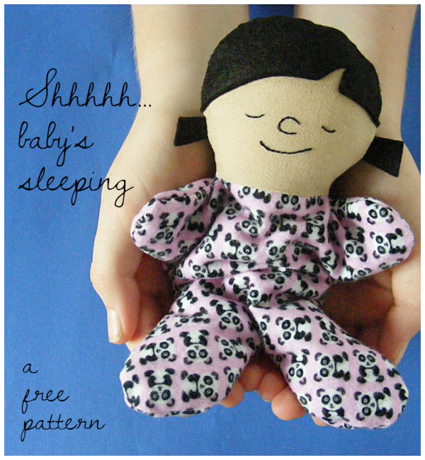 DIY Fabric Itty Bitty Sleepy Baby Doll Free Sewing Pattern