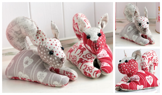DIY Fabric Squirrel Toy Free Sewing Pattern