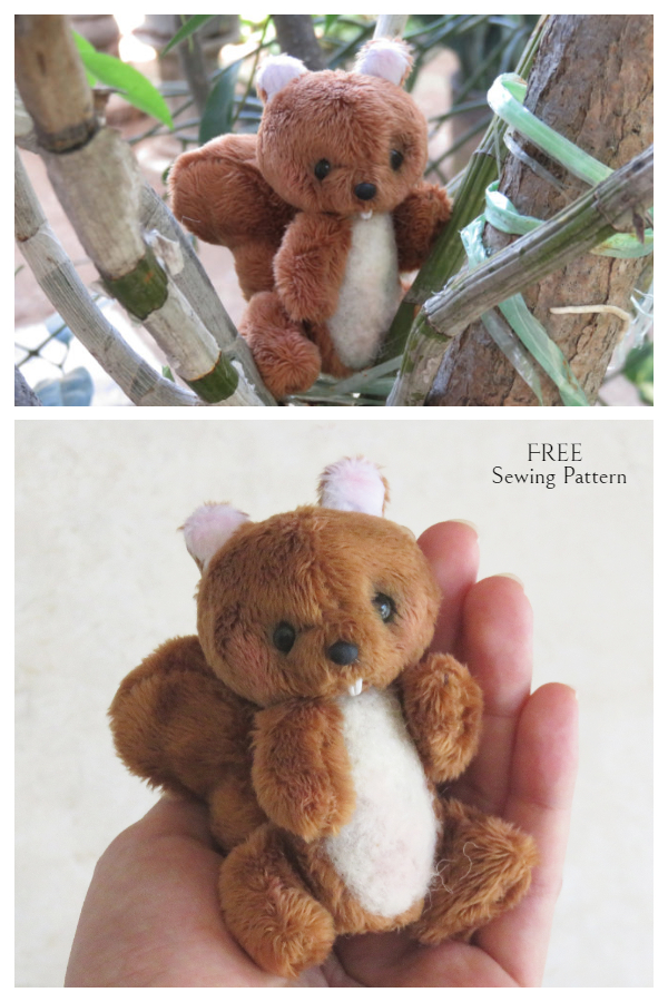 DIY Fabric Squirrel Toy Free Sewing Pattern