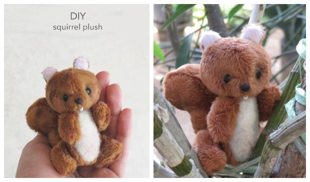 DIY Fabric Squirrel Toy Free Sewing Patterns