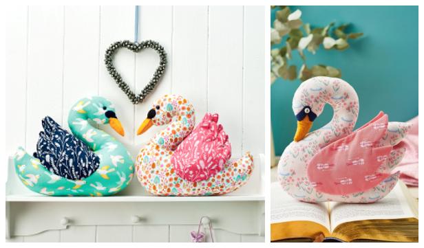 DIY Fabric Swan Toy Free Sewing Patterns