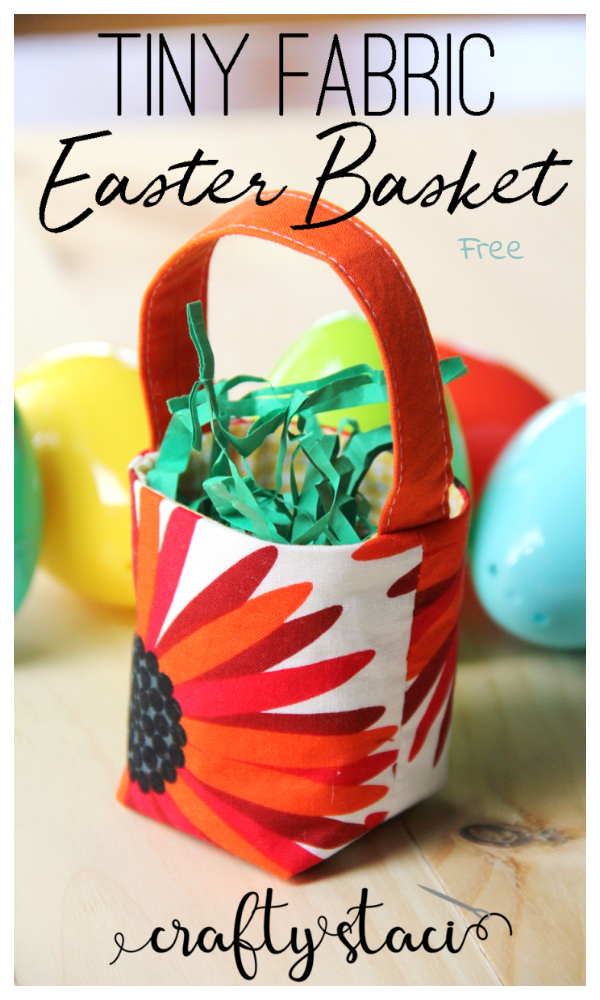 DIY Tiny Fabric Easter Basket Free Sewing Patterns