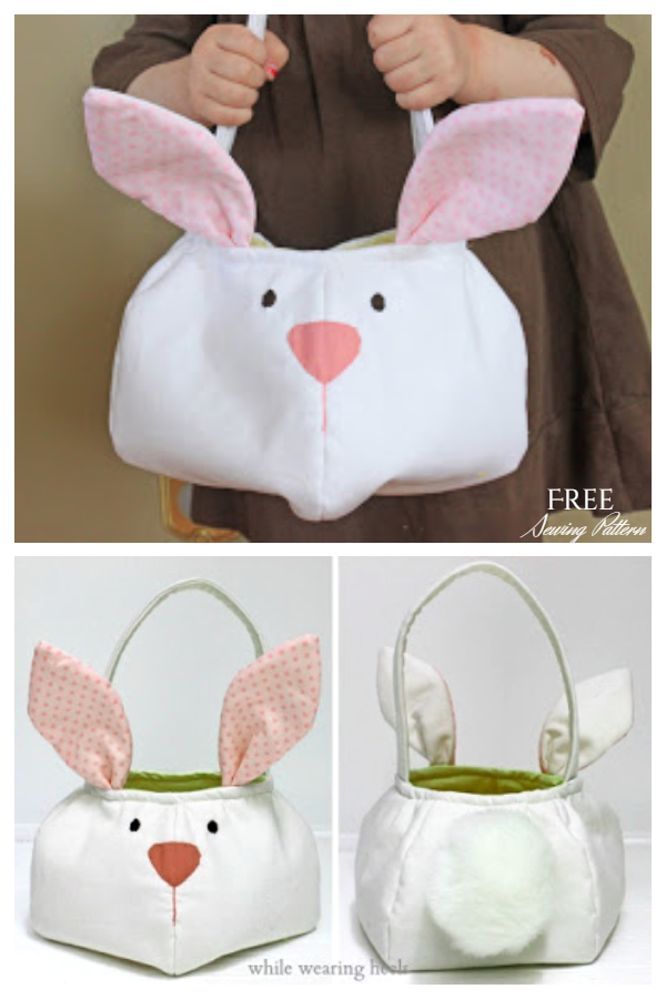DIY Easter Bunny Basket Free Sewing Patterns