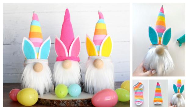 DIY Sock Easter Gnomes Free Sewing Pattern
