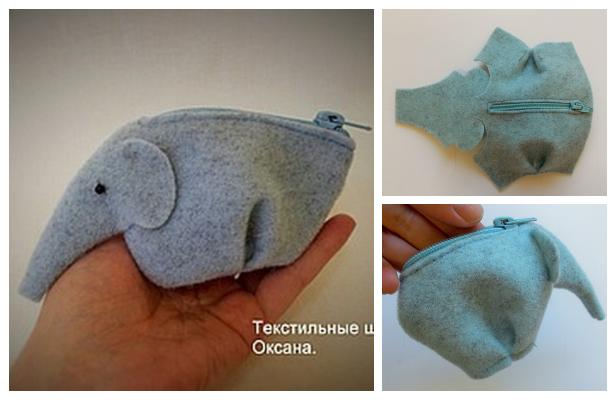 DIY Fabric Elephant Wallet Free Sewing Pattern