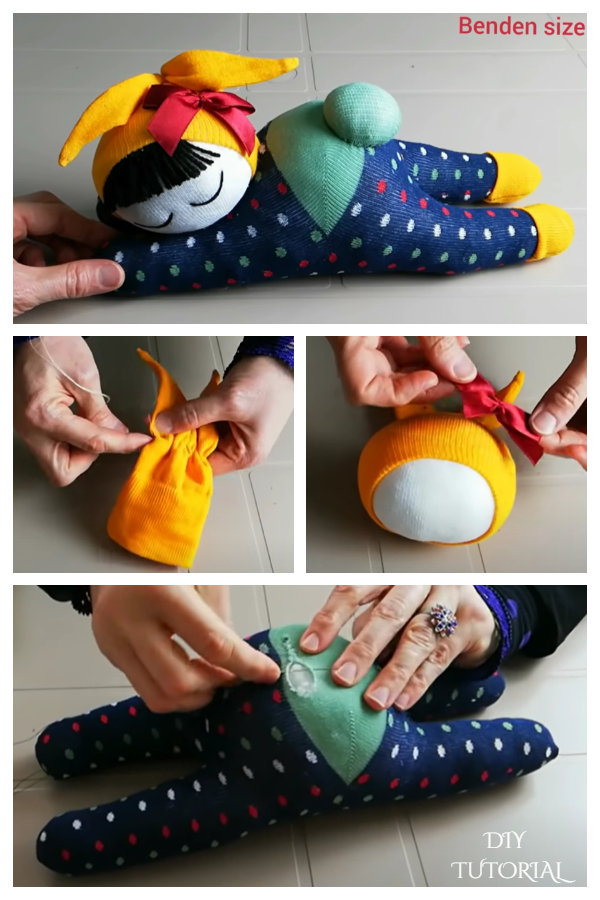 DIY Sock Bunny Doll Free Sewing Pattern + Video