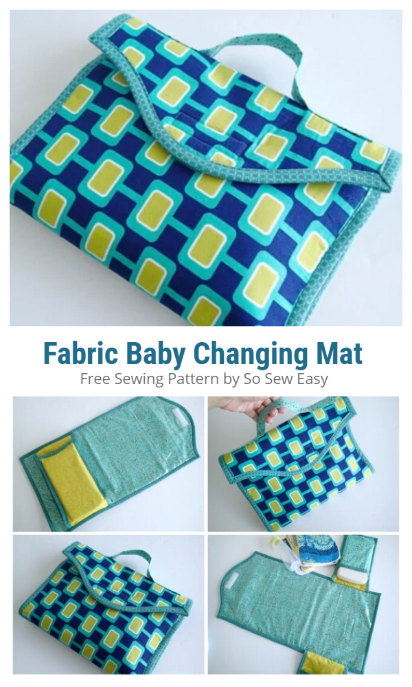 DIY Fabric Baby Changing Mat Free Sewing Patterns