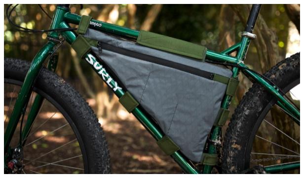 DIY Fabric Bike Frame Bag Free Sewing Pattern
