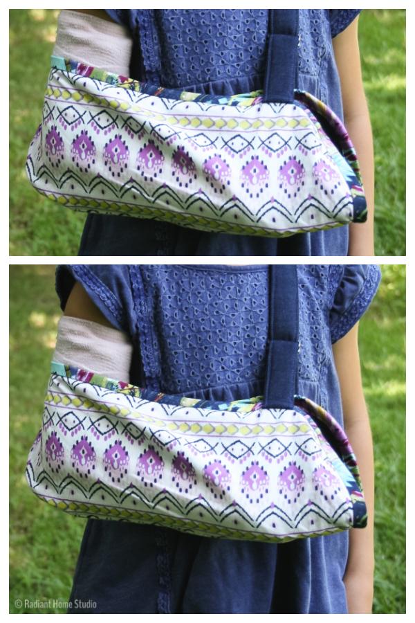 DIY Fabric Broken Arm Sling Free Sewing Pattern