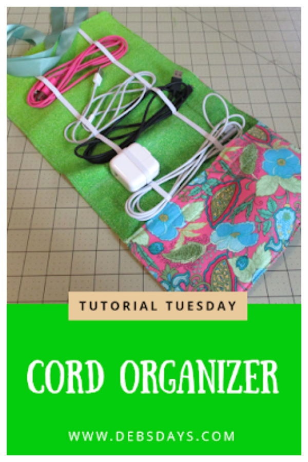DIY Fabric Roll-up Cord Organizer Free Sewing Patterns