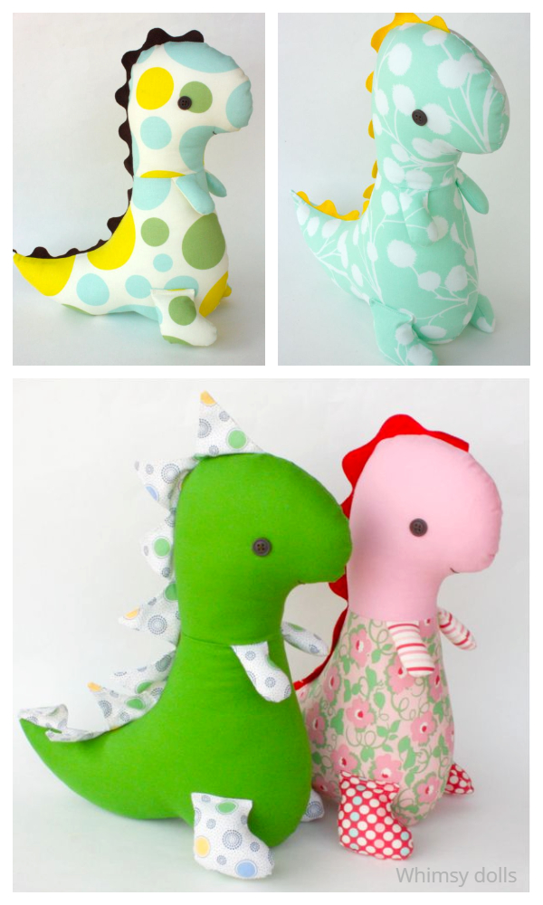 DIY Fabric Tommy T-Rex Dinosaur Sewing Patterns