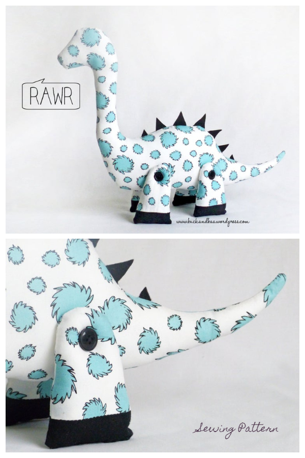 DIY DALE the DIPLODOCUS toy dinosaur Sewing