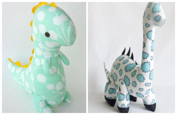 DIY Fabric Dinosaur Free Sewing Patterns & Paid