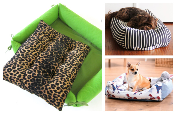 DIY Custom Fabric Dog Bed Free Sewing Patterns