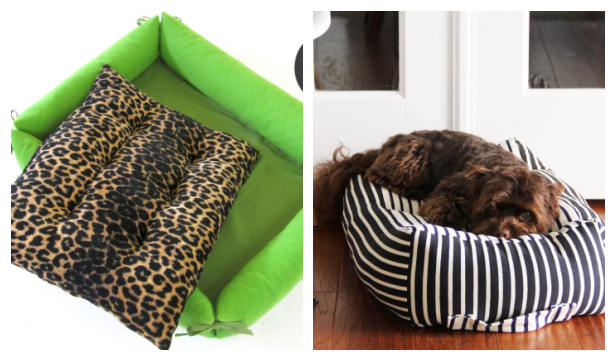 DIY Fabric Dog Bed Free Sewing Patterns