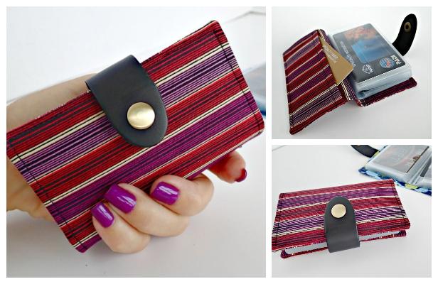 DIY Fabric Man Credit Card Wallet Free Sewing Pattern