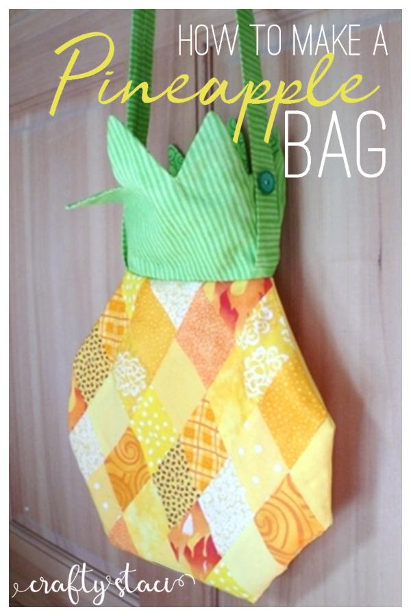 DIY Fabric Pineapple Bag Free Sewing Patterns
