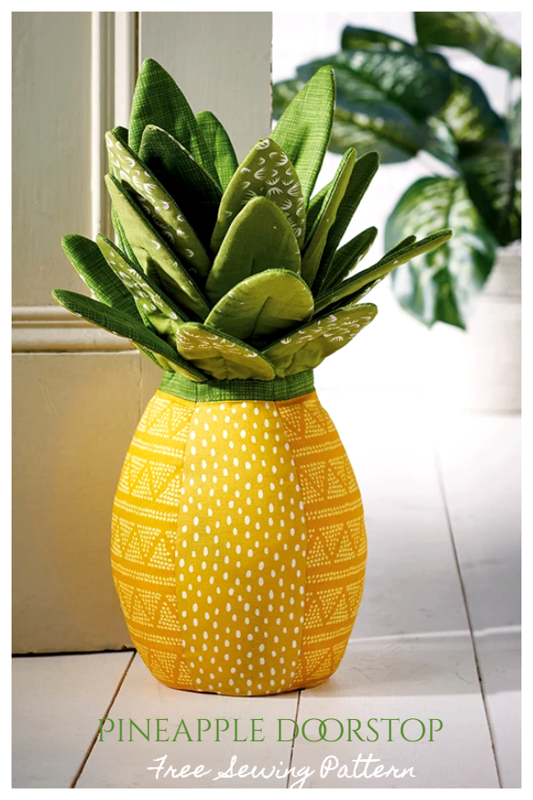 DIY Fabric Pineapple Toy Free Sewing Patterns