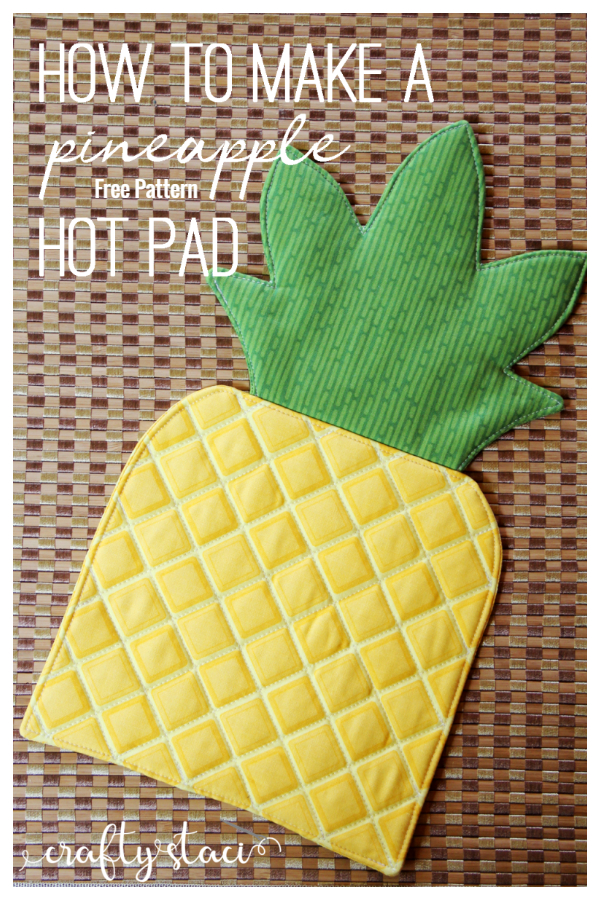 DIY Fabric Pineapple Hot Pad Free Sewing Pattern