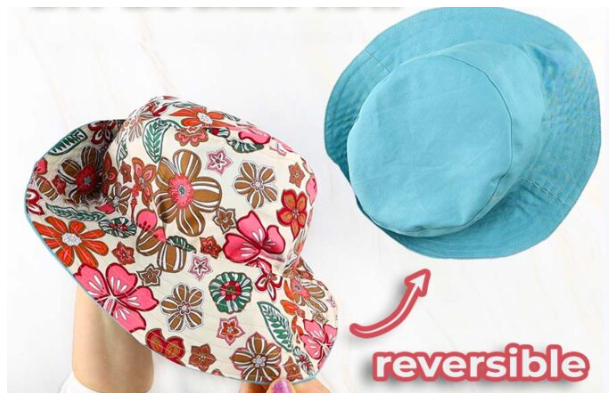 DIY Fabric Reversible Bucket Hat Free Sewing Pattern