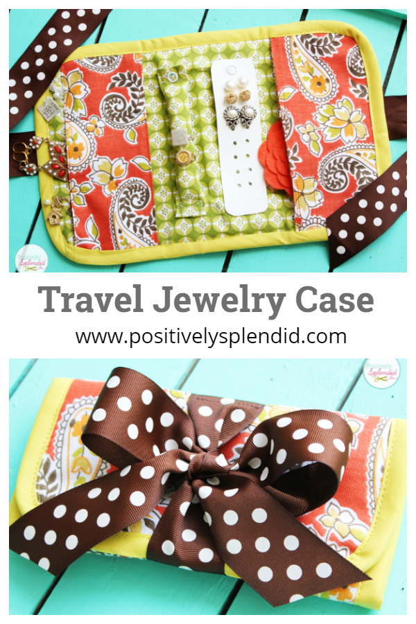 DIY Fabric Travel Jewelry Case Free Sewing Patterns