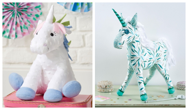 DIY Fabric Unicorn Toy Free Sewing Patterns