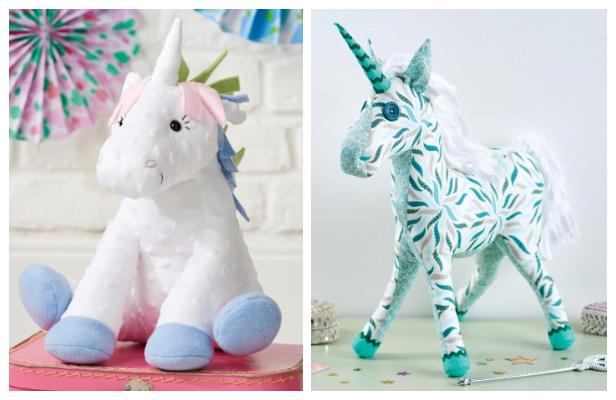DIY Fabric Unicorn Toy Free Sewing Patterns